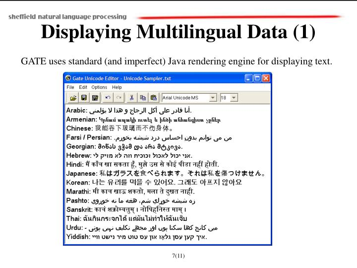Displaying Multilingual Data (1)