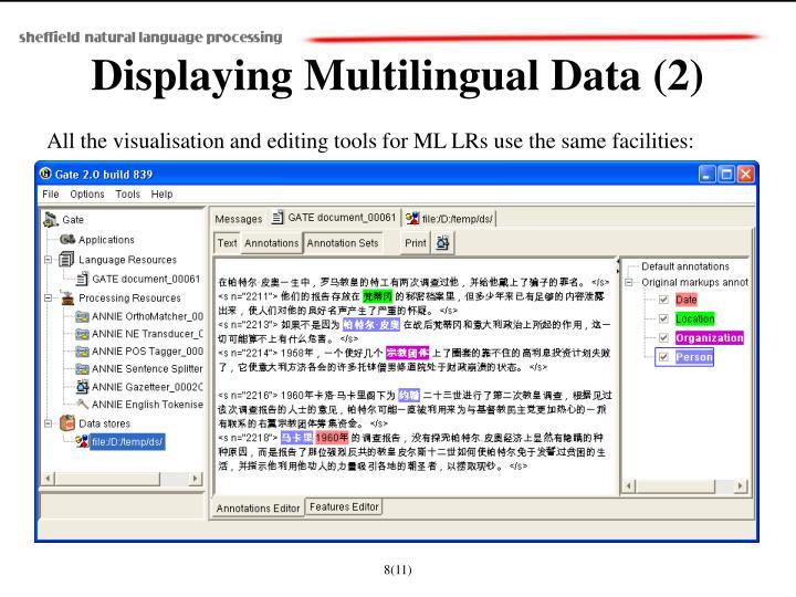 Displaying Multilingual Data (2)