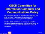 oecd committee for information computer and communications policy