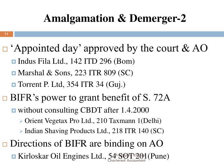 Amalgamation & Demerger-2