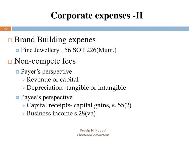 Corporate expenses -II