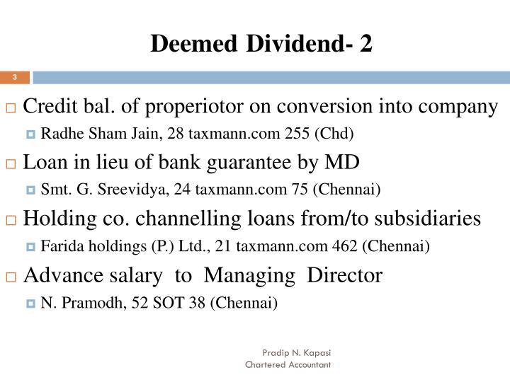 Deemed dividend 2