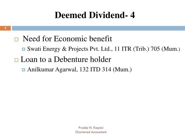 Deemed Dividend- 4