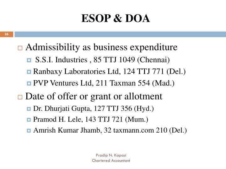 ESOP & DOA