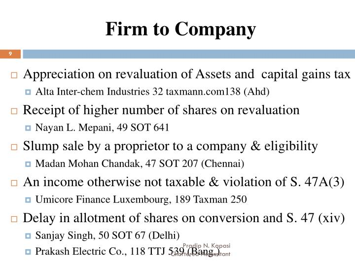 Firm to Company