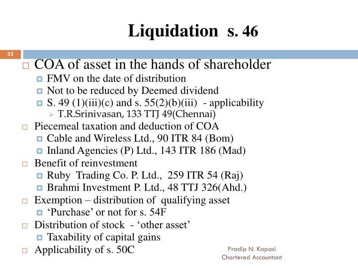 Liquidation  s