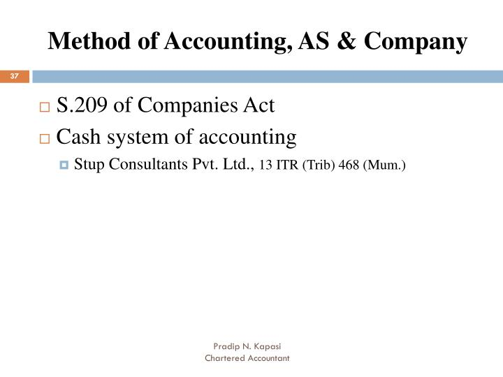 Method of Accounting, AS & Company