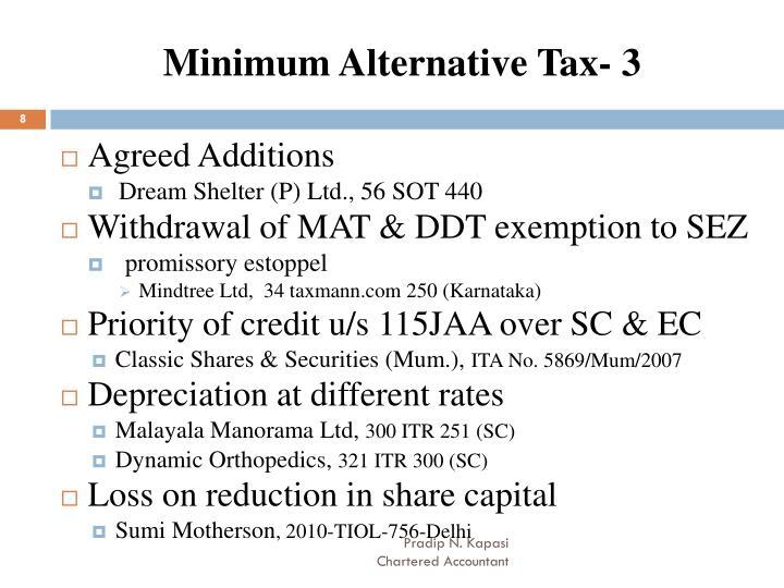 Minimum Alternative Tax- 3
