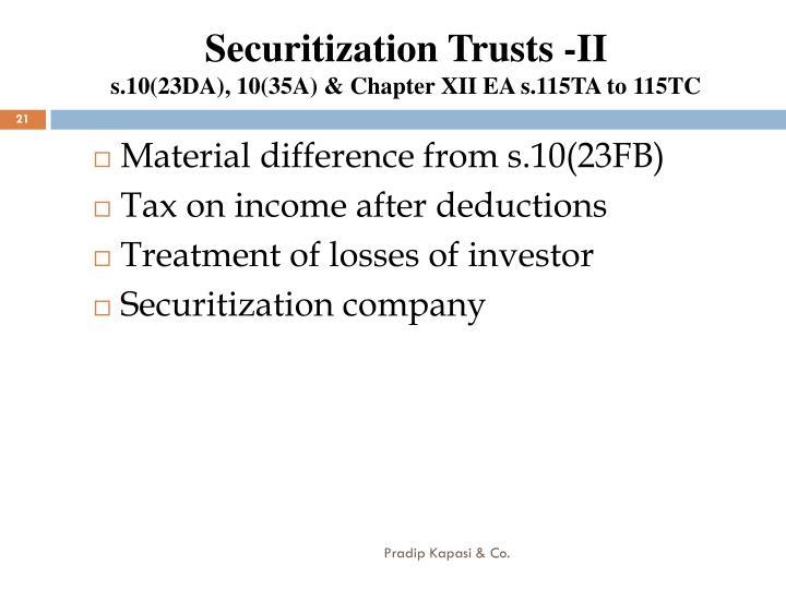 Securitization Trusts -II