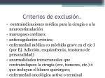 criterios de exclusi n