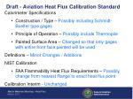 draft aviation heat flux calibration standard