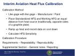 interim aviation heat flux calibration2