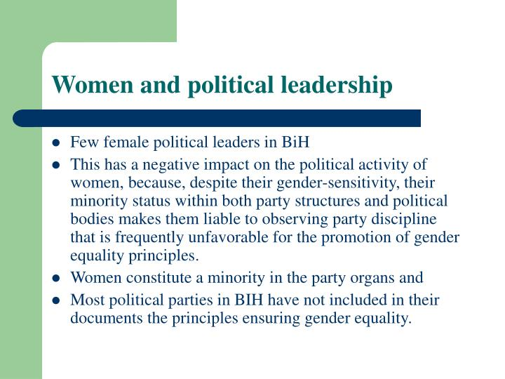 Women and political leadership