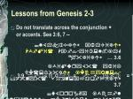 lessons from genesis 2 33