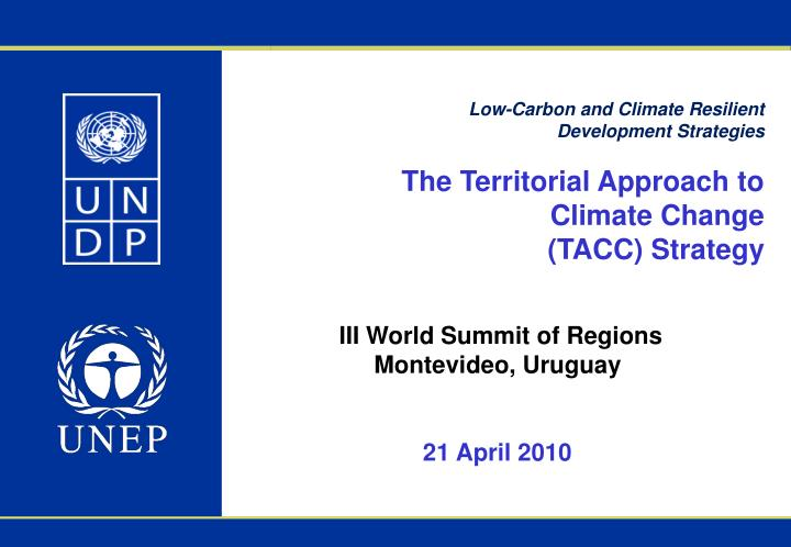 Low-Carbon and Climate Resilient