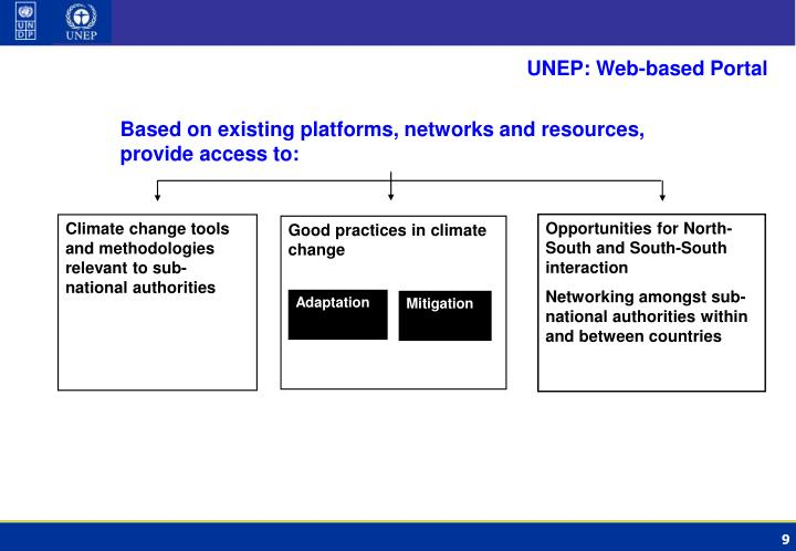 UNEP: Web-based Portal