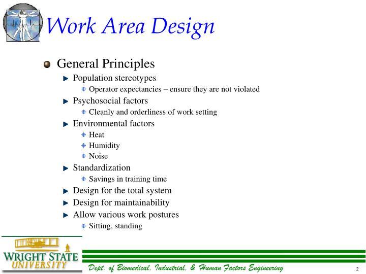 Work area design1