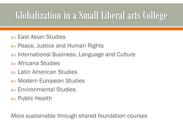 Globalization in a Small Liberal arts College