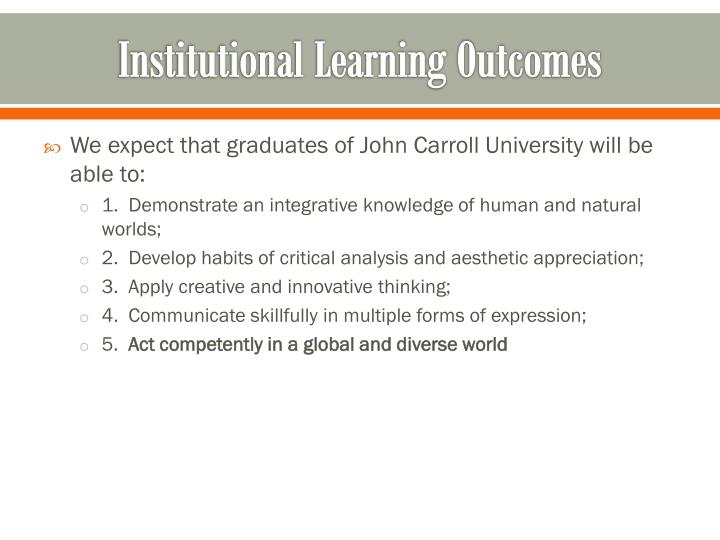 Institutional Learning Outcomes