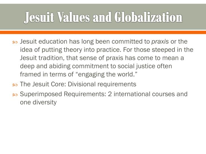 Jesuit Values and Globalization