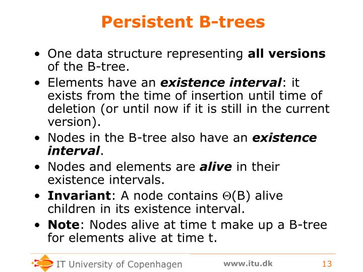 Persistent B-trees