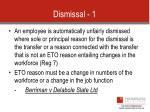 dismissal 1