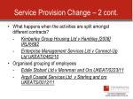 service provision change 2 cont
