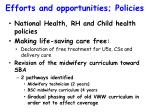 efforts and opportunities policies