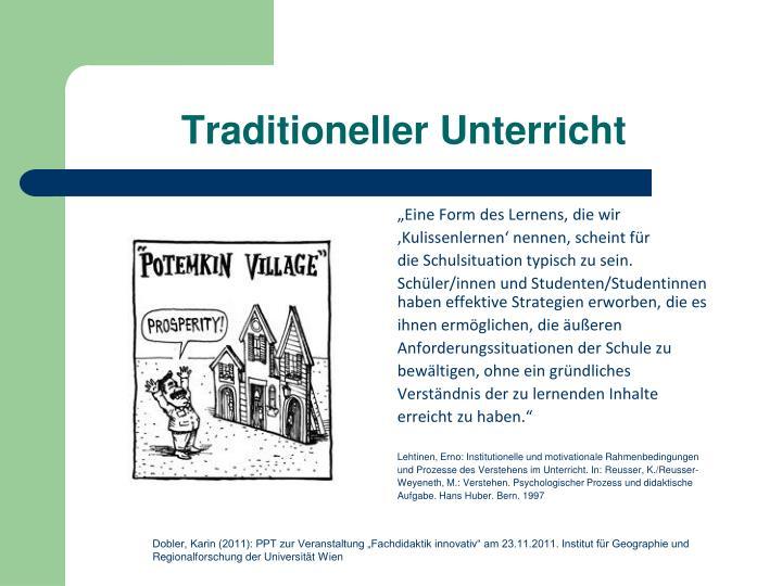 Traditioneller unterricht1