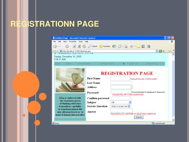 REGISTRATIONN PAGE