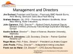 management and directors