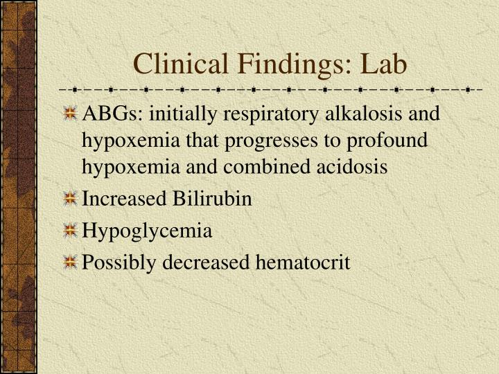 Clinical Findings: Lab