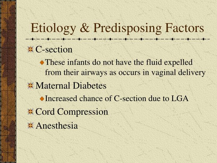 Etiology & Predisposing Factors