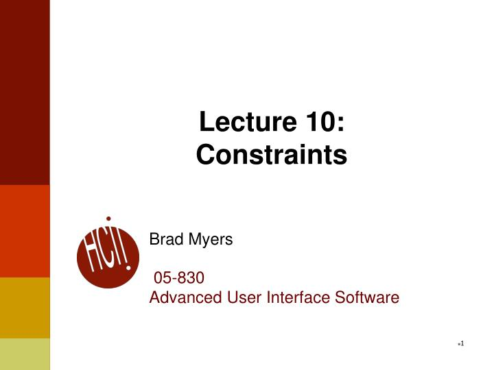 lecture 10 constraints n.