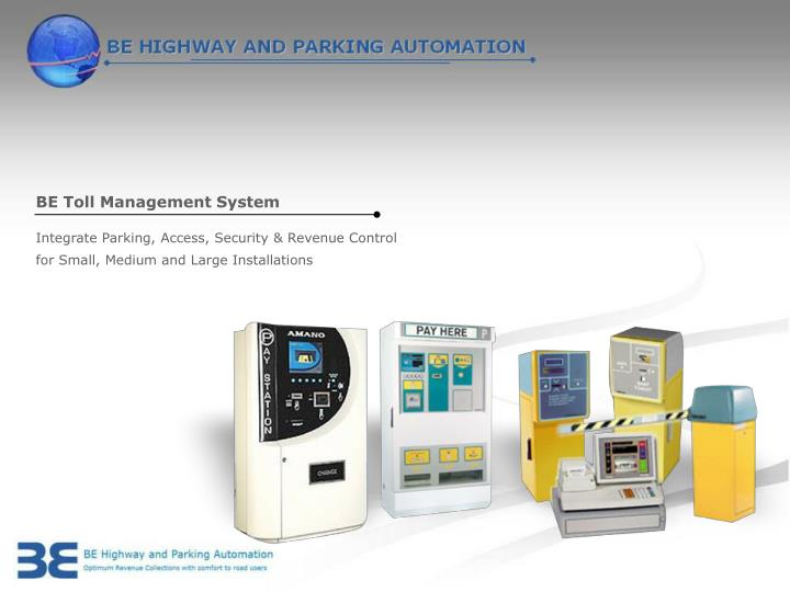 BE Toll Management System