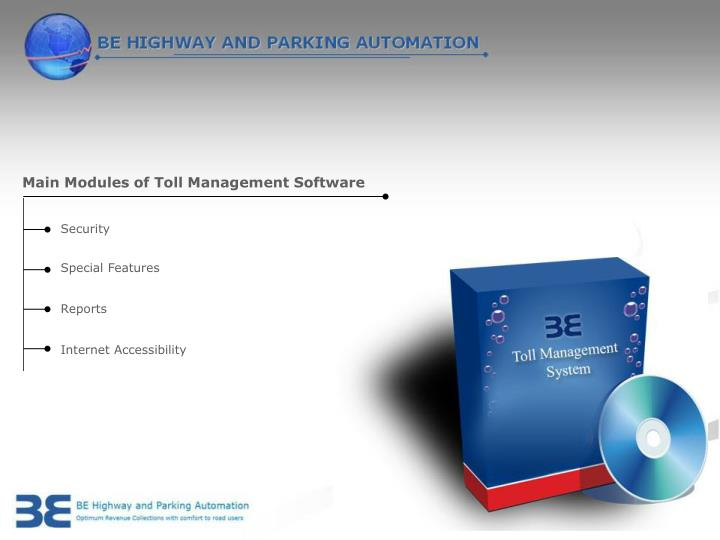 Main Modules of Toll Management Software