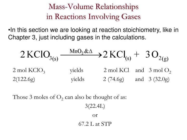 Mass-Volume Relationships