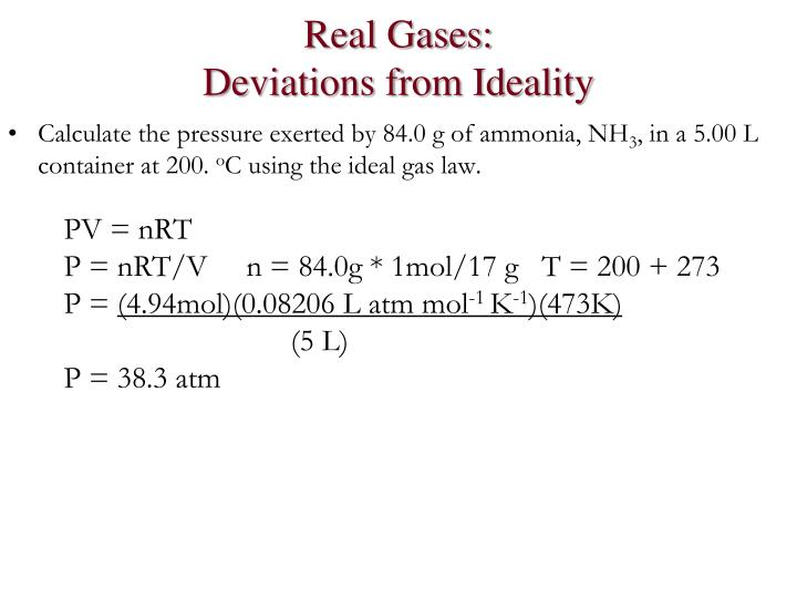Real Gases: