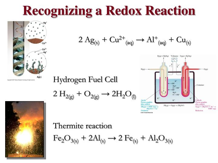 Recognizing a Redox Reaction