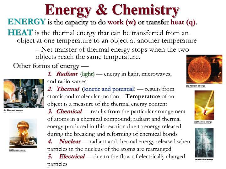 Energy & Chemistry