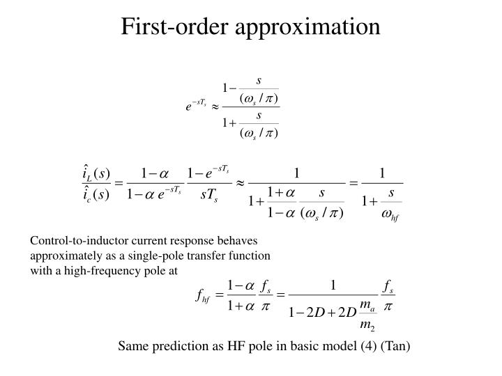 First-order approximation