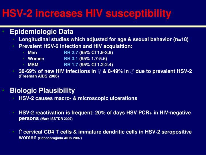 Hsv 2 increases hiv susceptibility
