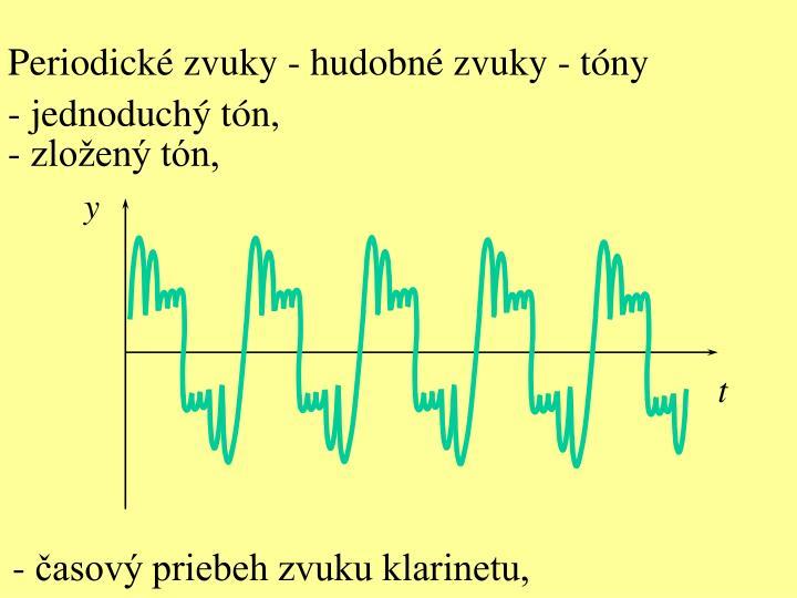 Periodické zvuky - hudobné zvuky - tóny