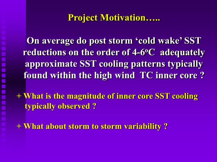 Project Motivation…..