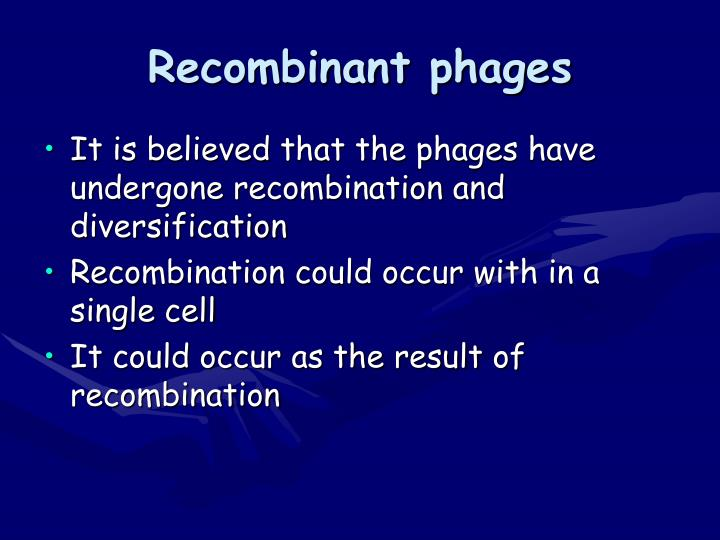Recombinant phages