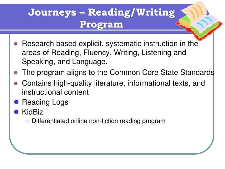 Journeys – Reading/Writing Program