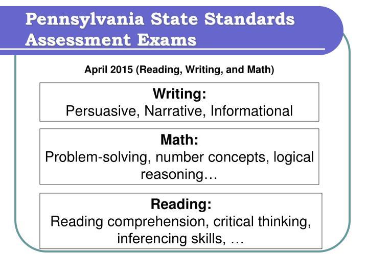 Pennsylvania State Standards Assessment Exams