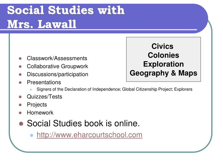 Social Studies with