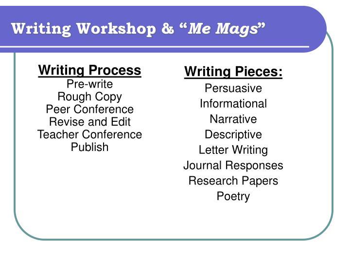 "Writing Workshop & """