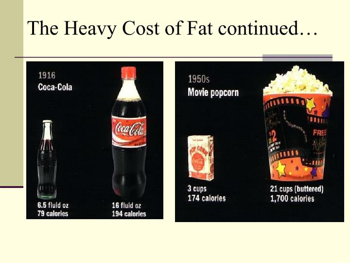 The Heavy Cost of Fat continued…